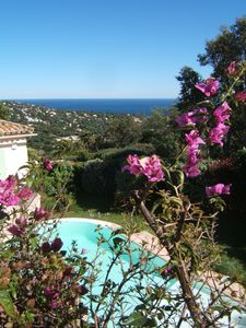 Photo for South facing, wide sea and hills views, infinity pool, garden, quiet