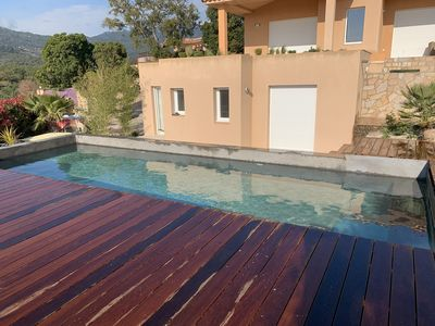 Photo for BEAUTIFUL VILLA 10 MINUTES WITH FEET BEACH OF FAVONE BEAUTIFUL VIEW ON SEA AND MOUNTAIN
