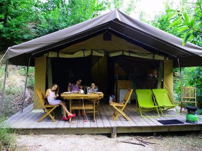 Photo for Camping Bivouac Nature - Tent Safari 3 Rooms 5 Persons