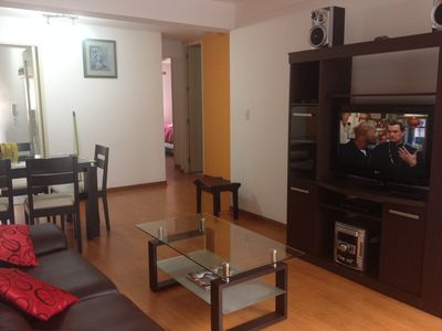 Photo for Miraflores furnished apartment w/cable tv Phone  Wi-Fi
