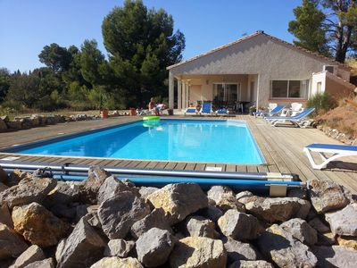 Photo for Exclusive luxury villa with private pool, air-con, Wi-Fi, next to village