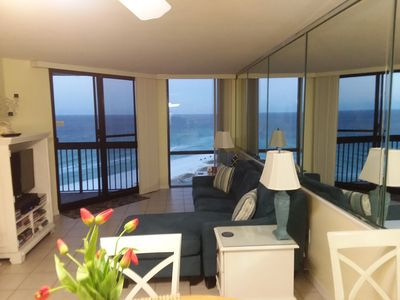 Living room overlooking Gulf of Mexico