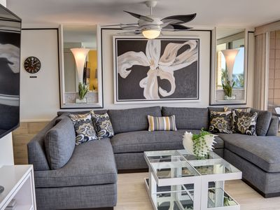 Photo for Luxurious, Designer Remodeled, Oceanfront Condo at the Mana Kai Maui