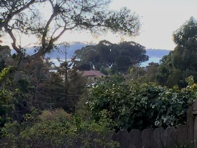 View from Deck with Ocean & Mission in the back ground