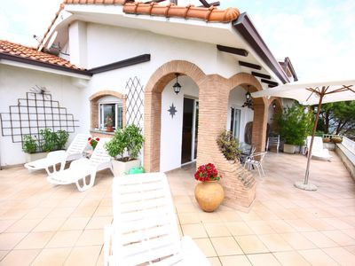 Photo for Villa Sergio with 2 holiday flat Sergio&TinaThis  can be rented has on unit x 12