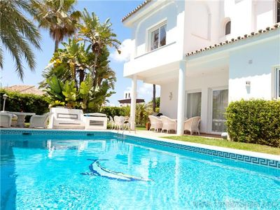 Photo for Beautiful family villa with pool next to the sea, Opposite Nikki Beach near Don Carlos Hotel