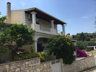 Photo for Top quality villa in peaceful central position in Kassiopi. Sea & mountain views