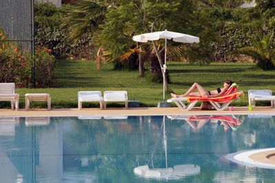By the Pool & Gardens on the Holiday Site