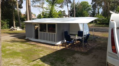Photo for New glamping accommodation rental caravan with toilet and kitchen