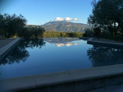 Photo for Large winegrower's house (Ferme) with large pool and views of the Mont Ventoux