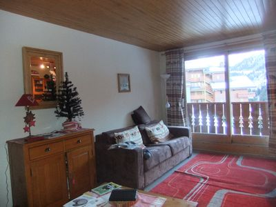 Photo for south ample, full flat, agreeable, in the middle of the three valleys