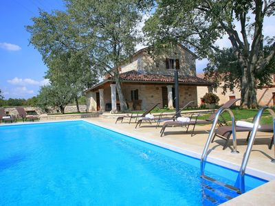 Photo for Four bedroom villa near Rovinj with large Pool on private quiet nature location