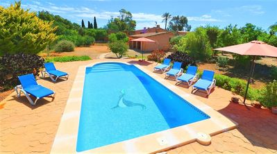 Photo for Can Cova charming villa with swimming pool in the middle of nature 413