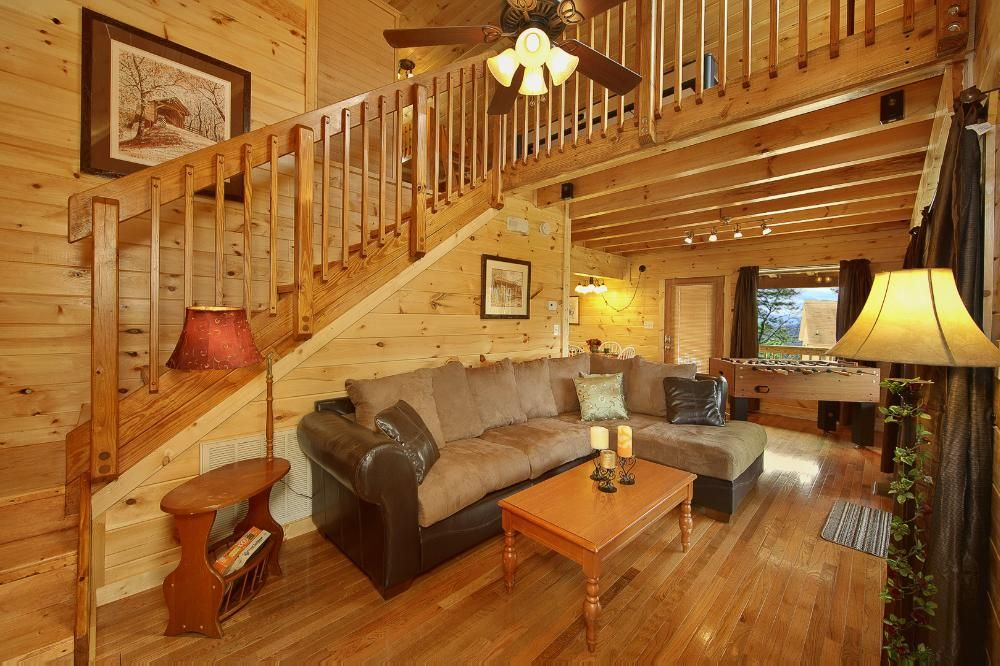 Pristine cabin with wrap around deck with mountain views for 10 bedroom cabins in tennessee