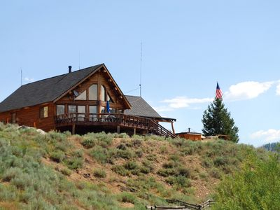 Photo for Stanley House - Custom Log Home with Panoramic Sawtooth Mountain Views