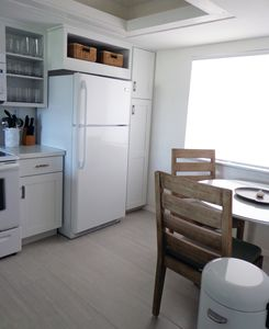eat in kitchen, new table + chairs July 2015