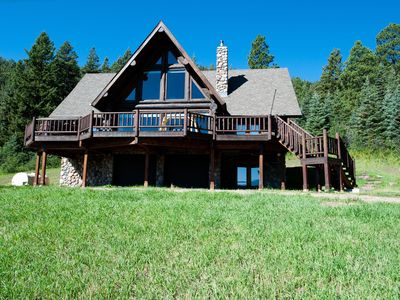Photo for Awesome Cabin on 37 Acres - Amazing Views - Hot Tub, Firepit and Ping Pong