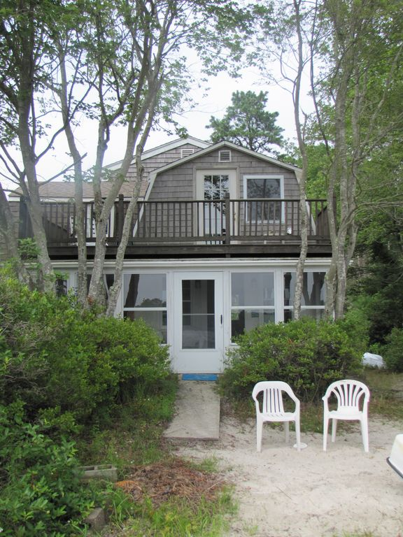 Waterfront Cottage On Micajah Pond VRBO - And architectural cottages on secluded private pond homeaway