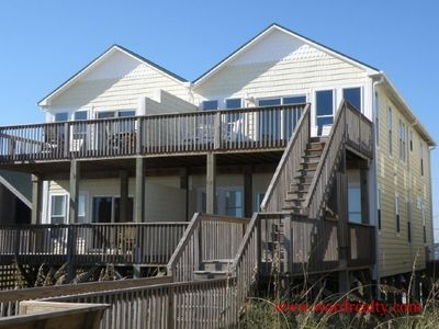 Photo for Atlantic Sunrise - Lovely 4 Bedroom, Oceanfront Duplex with Great Views. Close to Pier and Shops!