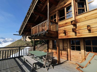 Photo for South facing chalet with views Manigod La Clusaz