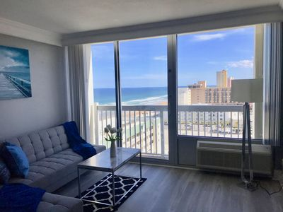 Photo for OCEAN VIEWS TO THE LEFT & CITY VIEWS TO THE RIGHT IN THIS MODERN STUDIO
