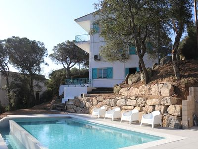 Photo for Sea view - infinity pool - A/C - 1km from beach - newly renovated villa
