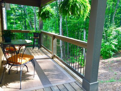 Relax on the front porch and enjoy the birds chirping - summertime