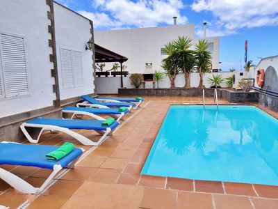 Photo for Beachside House Villa Muñoz with Heated Pool, Air Conditioning & Wi-Fi; Parking Available