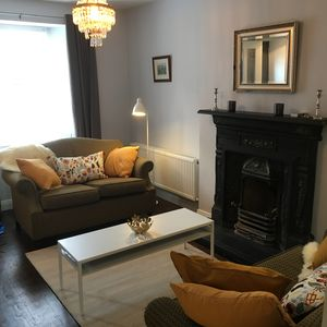 The cosy snug frontroom, consider NOT using the fire when there s no wind.