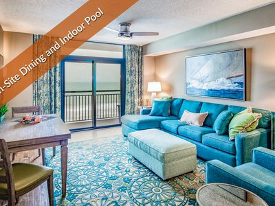 Indoor & Outdoor Pools. Peaceful Oceanfront Balcony. On-Site Dining and Covered Parking.