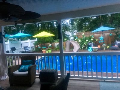 Cozy Black Point Beach Coastal  Cottage with pool and expansive patio