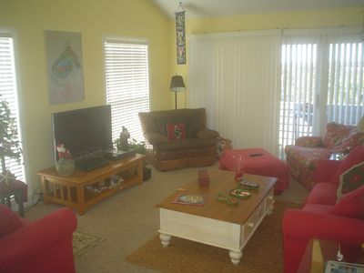 Living Room Area with View Toward Intercoastal