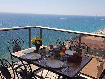 Photo for VILLASCOSETTE-APARTAMENTO CD15 LE PRESIDENT sea views, terrace and wifi