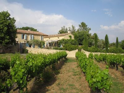 Photo for Renovated beautiful mas with private pool and beautiful view of the Mont Ventoux
