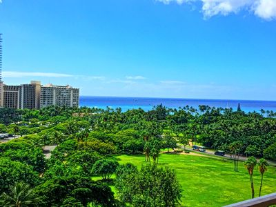 Photo for $69 Oceanview Balcony +Best Shopping+ Kitchen+Pool+4star Hotel Perks, Gym+WiFi