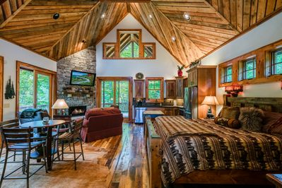 Open Concept Living at The River Sound Cabin.
