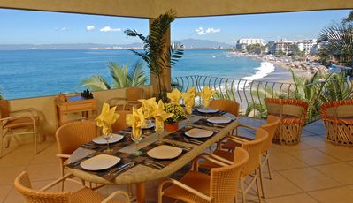 Photo for 3-4 br private beachfront villa w/staff, pool & best location in Puerto Vallarta