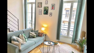 Photo for Charming loft, balcony and refined decoration in the city center