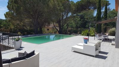 Photo for Villa des Lunes in the center of Le Plan de la Tour with heated swimming pool and large garden