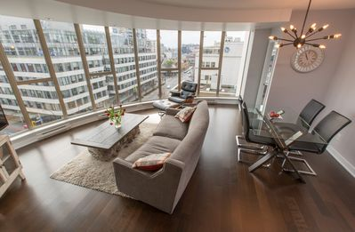 Photo for Bright Downtown Corner Suite with Views of the Olympic Mountains
