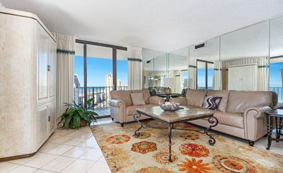 Photo for New Listing! Penthouse ocean views w/enclosed rooftop sunroom and HUGE balcony!