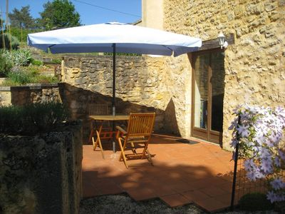 Photo for Walnut Store - cosy gite, direct access to poolside. Bakery 5 mins walk