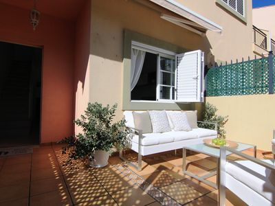 Photo for Rental Villa in Gran Canaria, Maspalomas 2 bedrooms, garden, terrace, pool, beach.