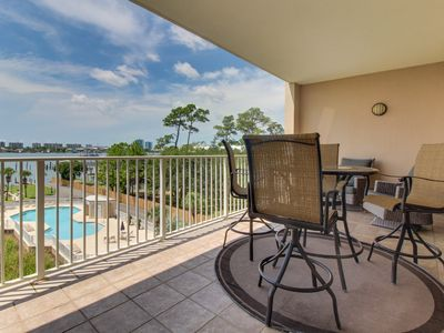 Photo for NEW LISTING! Waterfront condo w/ shared pool, tennis, & sauna - near the beach