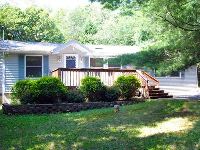 Photo for Relax in This One Level Ranch House Located In The Pocono Mountains!