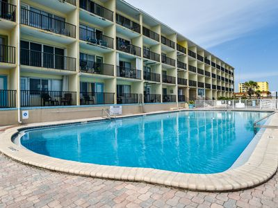 Photo for NEW LISTING! Studio condo w/ shared pool and immediate beach access!
