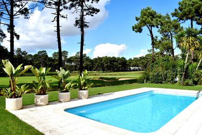 Fabulous fairway and lake views overlooking the pool