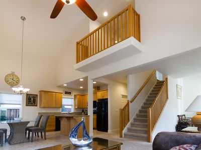 Photo for HOME close to Downtown, Quiet, upscale Cathedral Ceiling, View