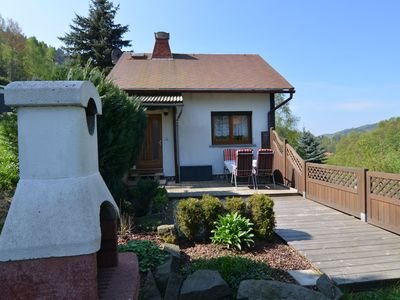 Photo for Detached holiday home with a sunny garden in the heart of the Thuringian Forest