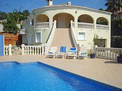 Photo for Beautiful 6 Bedroomed villa with sea views, private pool and gardens